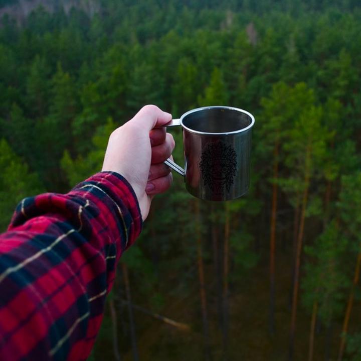kahvihetki metsäretkellä